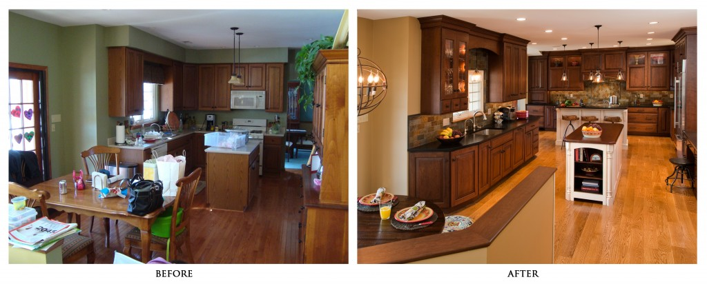 Green kitchen remodeling ideas friendly contractor for Before and after home exteriors remodels