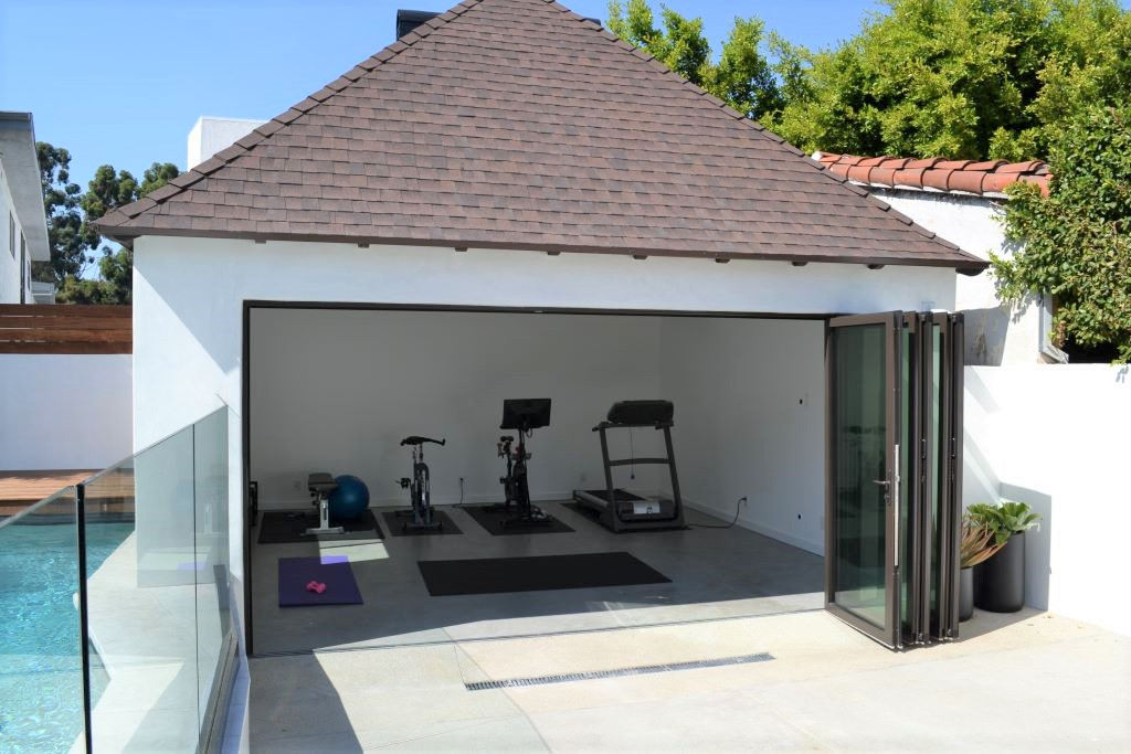 Garage Conversion to Workout Room in Los Angeles