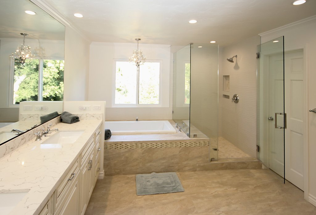 Elegant Master Bathroom Remodel in Bell Canyon CA